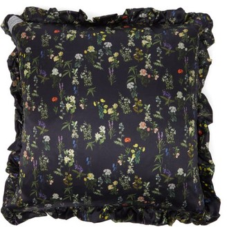 Preen by Thornton Bregazzi Floral-print Satin Cushion - Navy Multi