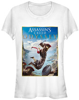 Fifth Sun Women's Tee Shirts WHITE - Assassin's Creed White Odyssey Poster Crewneck Tee - Women & Juniors