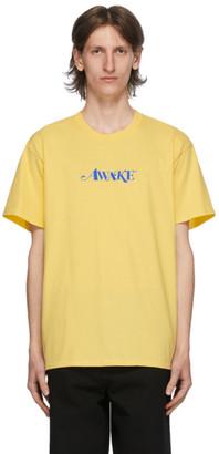 Awake NY Yellow Logo T-Shirt