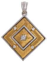 Buccellati White and Yellow Gold Gold Agalmachron Diamond Pendant
