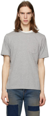 Remi Relief Grey Double Neck Grunge T-Shirt