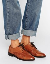 Asos Matches Leather Woven Brogues