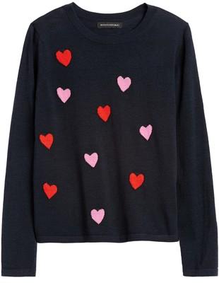 Banana Republic Floating Hearts Sweater