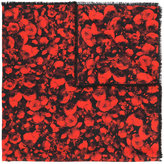 Givenchy rose print scarf