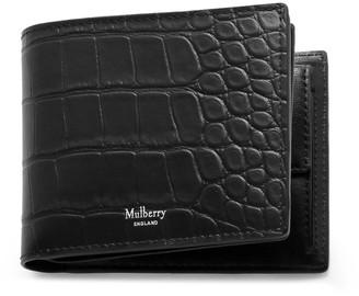 Mulberry 8 Card Coin Wallet Black Matte Croc