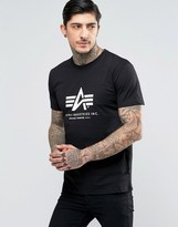 Alpha Industries T-shirt With Logo In Regular Fit Black