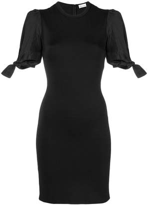 RED Valentino tied-sleeves fitted dress