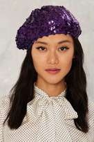 Factory All That Jazz Sequin Beret - Purple