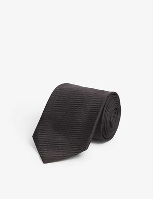 Alexander McQueen Stripe-woven silk tie