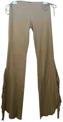 Plein Sud Jeans Camel Polyester Trousers
