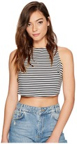 Roxy Plans I Was Chasing Stripe Crop Top Women's Short Sleeve Knit