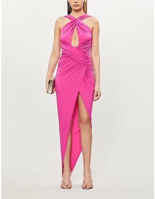 Alexandre Vauthier Cross-over stretch-crepe maxi dress