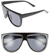 BP Women's The Shield 56Mm Sunglasses - Black