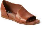 DKNY Women's Sandals LUG:LUGGAGE - Luggage Dya Peep-Toe Leather DOrsay Flat - Women