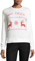 Signorelli Oh Deer-Graphic Sweater, White