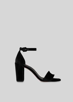 Alba Velvet Block Heel Sandal