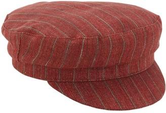 Isabel Marant Striped Linen Captain's Hat