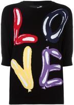 Love Moschino intarsia logo jumper - women - Cotton - 44