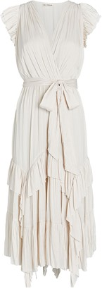 Ulla Johnson Abella Pleated Midi Dress