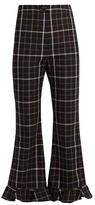 Awake Jellycheck flared cropped trousers