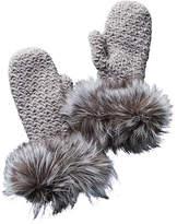 Surell Fleece-Lined Knit Mittens