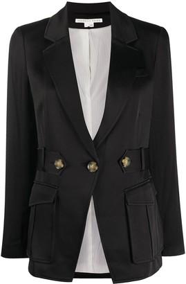 Veronica Beard Long-Sleeved Buttoned Waist Blazer