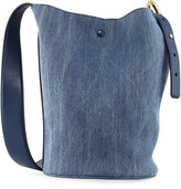 Derek Lam 10 Crosby Grove Denim Bucket Bag, Navy