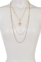 Joe Fresh Bead & Crystal Detail Charm Layered Necklace