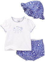 Absorba Top, Short, & Hat Set (Baby Girls)
