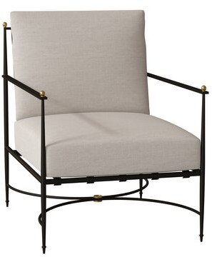 Summer Classics Roma Patio Chair with Cushion Summer Classics Cushion Color: Fretwork Pewter