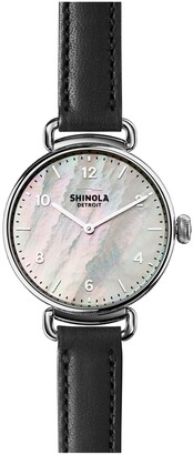 Shinola Women's Canfield Leather Strap Watch, 32mm