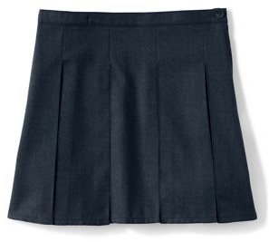 Lands' End Juniors' Top of the Knee Box Pleat Skirt