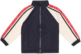 Gucci Kids Technical-jersey track jacket