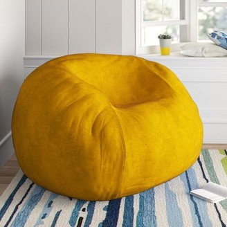 Large Bean Bag Chair & Lounger Latitude Run Upholstery Color: Lemon