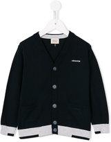 Armani Junior contrast stripe cardigan - kids - Cotton - 12 yrs