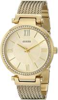 GUESS GUESS? Women's U0638L2 Sophisticated Gold-Tone Watch with Self-Adjustable Bracelet