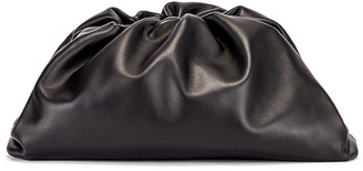 Bottega Veneta Butter Leather The Pouch Clutch in Black & Silver | FWRD