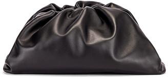 Bottega Veneta The Pouch Clutch in Black & Silver   FWRD