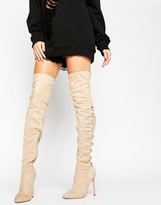 Asos KARIANNE Multi Strap Over The Knee Boots