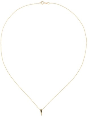 Lizzie Mandler Fine Jewelry 18kt gold and black diamond 'Single Kite' necklace