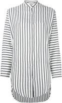 Studio Nicholson striped tunic shirt - women - Silk - 1
