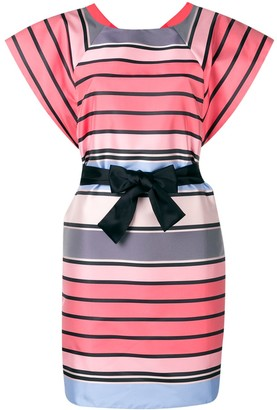 Emporio Armani Striped Belted Dress
