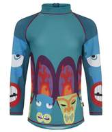 Sand Dollar Swim Boys Rash Vest - African Mask 1 for