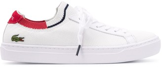 Lacoste Knitted Style Logo Embroidered Sneakers
