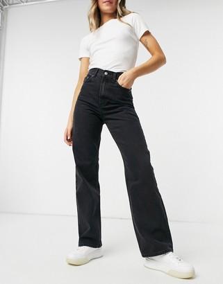 Dr. Denim Echo wide leg jeans in black