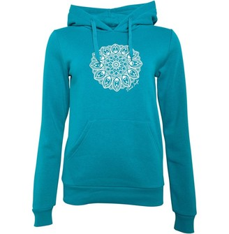 Board Angels Womens Placement Print Hoodie Blue