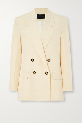 Proenza Schouler Double-breasted Woven Blazer - Yellow