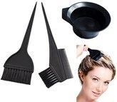 Salon Hair Coloring Dyeing Kit Color Dye Brush Comb Mixing Bowl Tint Tool Bleach