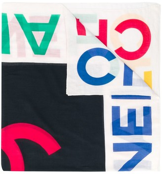 Chanel Pre Owned 1990s Logo Print Scarf