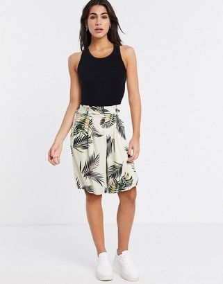 Object tailored city shorts co-ord in palm print